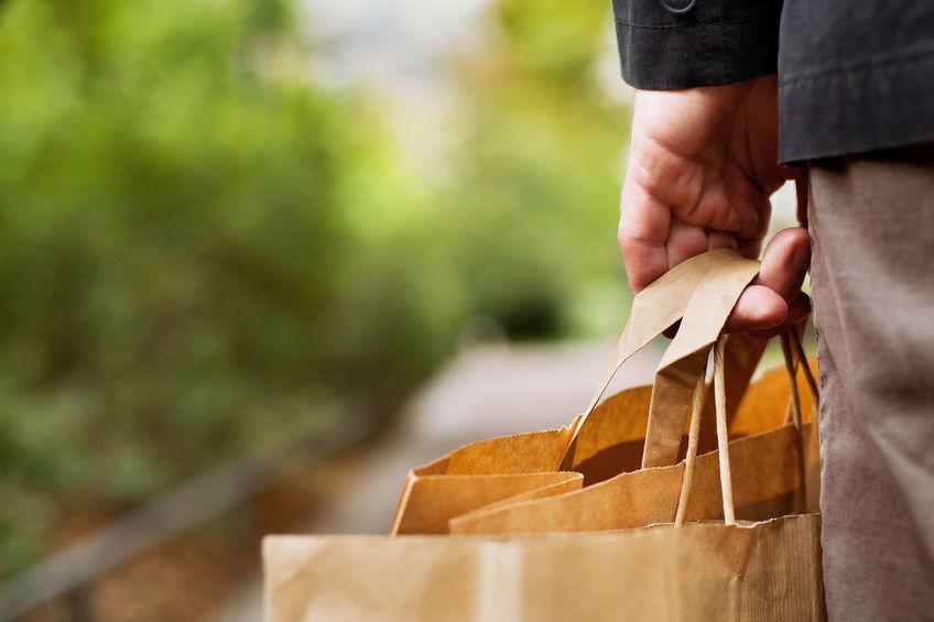 sacos de compras de papel