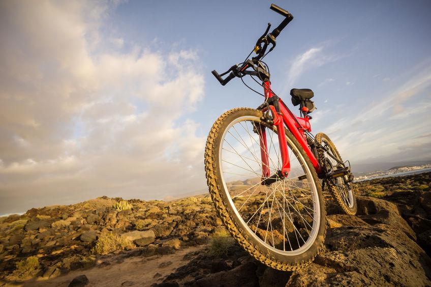 mountain bike nas rochas