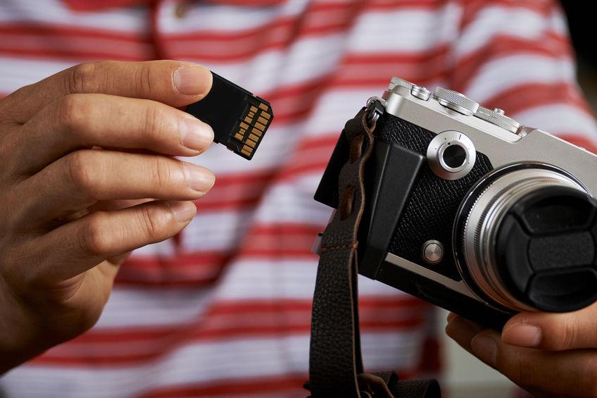 cartão de memória para câmera