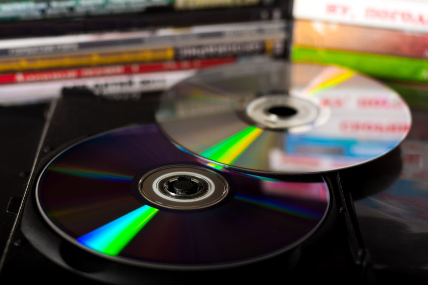 dvds empilhados