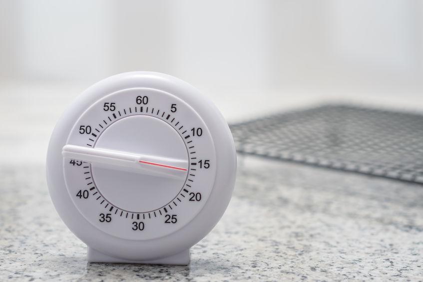 cronômetro de cozinha branco