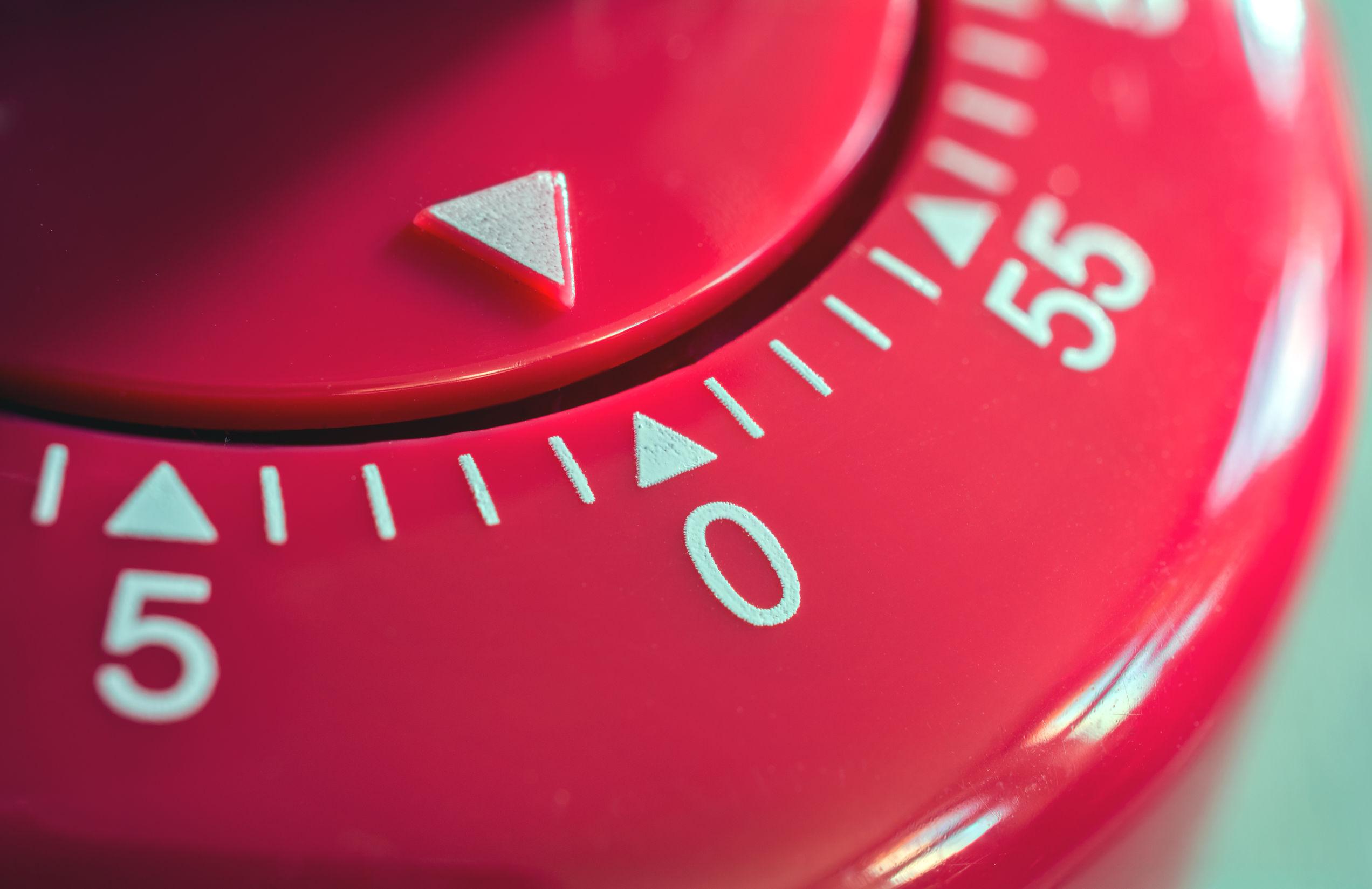 cronômetro vermelho