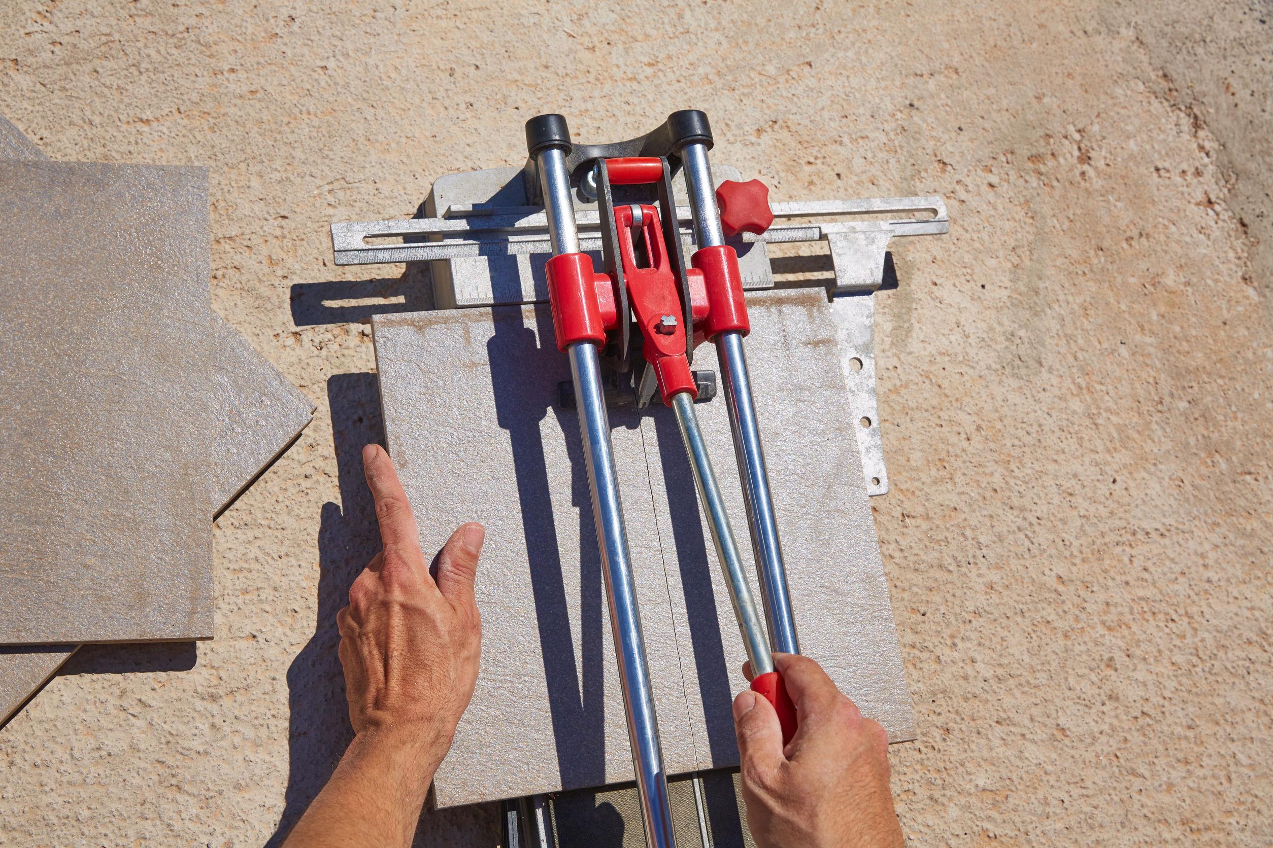 ferramenta de corte de azulejos