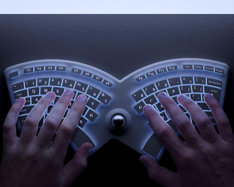 teclado ergonômico