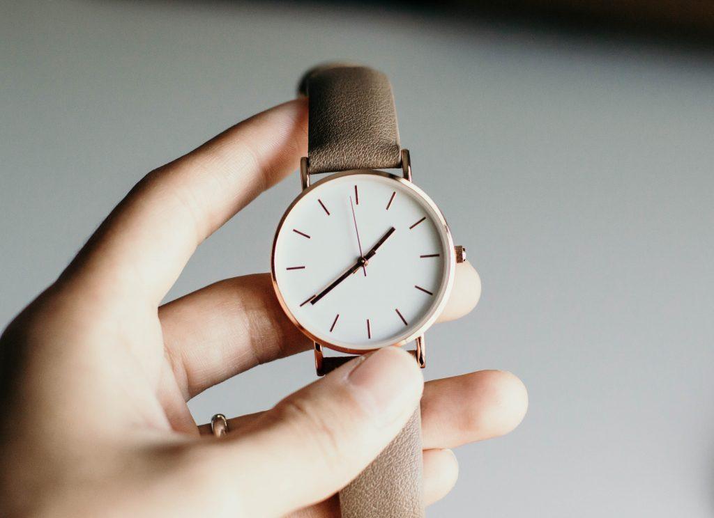 Imagem de um relógio.