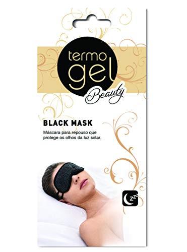 Máscara para Dormir, Termogel Beauty, Preta, Unico