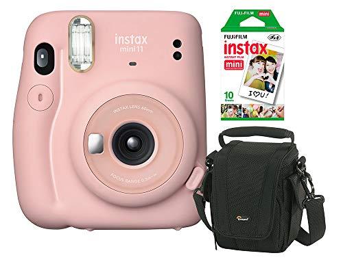Câmera instantânea Fujifilm Instax Mini 11 Rosa + Bolsa + Filme Instax com 10 poses
