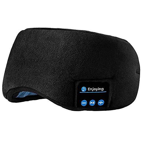 Máscara para dormir com Bluetooth, fone de ouvido sem fio Bluetooth 5.0 da Joseche com alto-falantes embutidos, microfone lavável (preto)