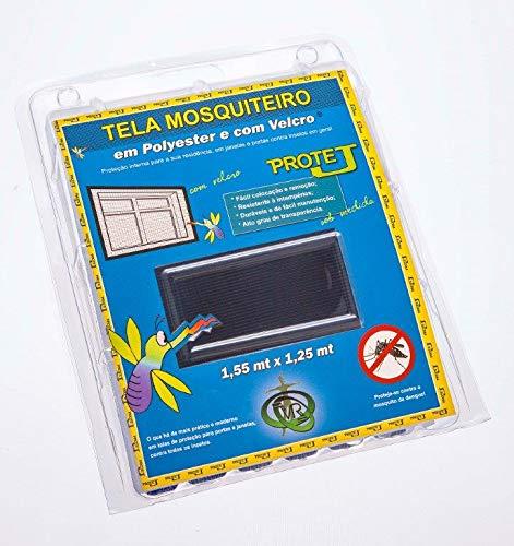 Tela Mosquiteiro Com Velcro Protej Cinza