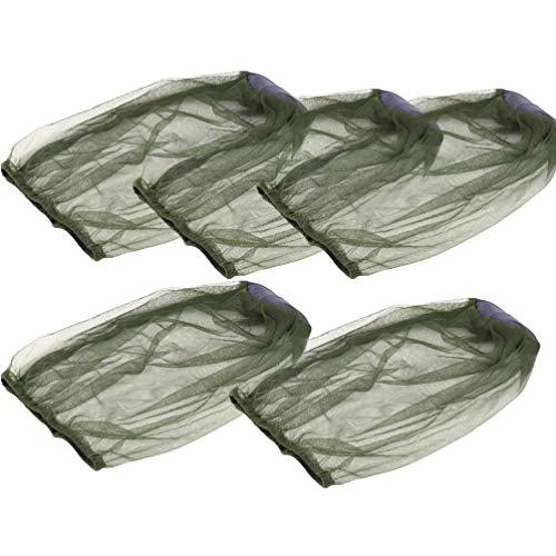 BESPORTBLE, 5 peças, rede de mosquiteiro, tela para proteção de cabeça para mosquitos Gnat e outras moscas, rede de insetos ao ar livre, caminhadas, acampamento, escalada, caminhada