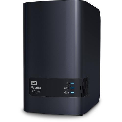 Nas Wd My Cloud Ex2 Ultra Usb3.0 Rj45 Giga Suporta Até 16tb (sem Discos)