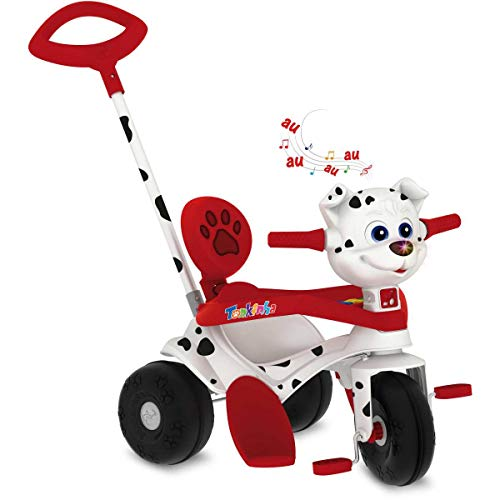 Triciclo Tonkinha Doggy Passeio E Pedal Bandeirante Branco