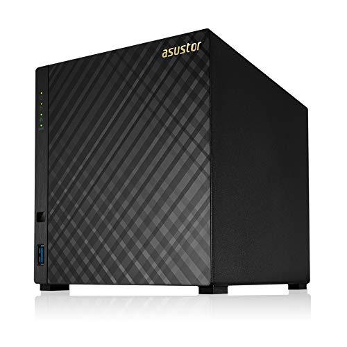 Storage NAS Asustor AS1004T V2 (Marvell Dual Core/1,6GHZ/512MB DDR3/Media Center/4 Baias/Até 56TB) - *Sem HD* (EAN 4710474831067)