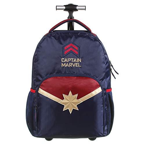 Mochila Escolar com Rodinhas G, Capitã Marvel, DMW Bags, 11792, Colorida