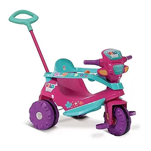 Triciclo Velobaby Passeio e Pedal, Brinquedos Bandeirante, Multicor