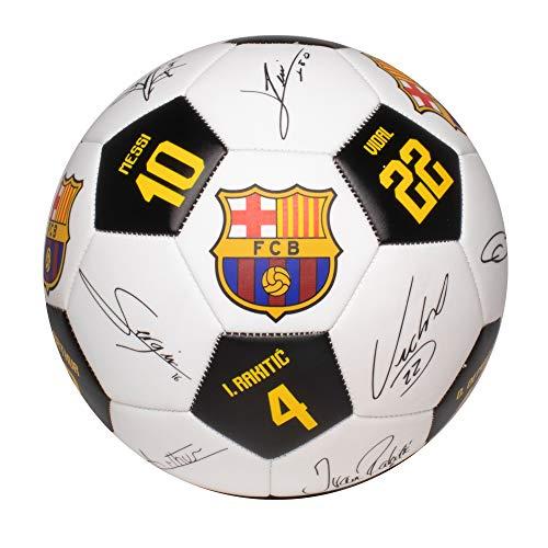 Bola De Futebol De Campo, Barcelona, Maccabi, Branca e Preta, Autografada