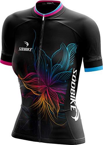 Camisa Ciclismo Feminina Sódbike Flower (P)