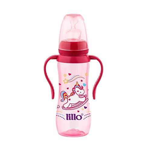Mamadeira Sonho Acinturada com Alça Sil 240 ml Tam 2 - Lillo, Rosa