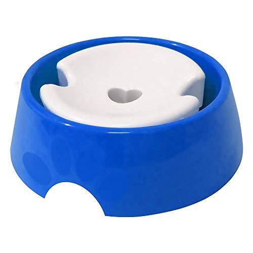 Bebedouro Plástica Pop Pelos Longos N.3, 1,000ml Azul Furacão Pet para Cães