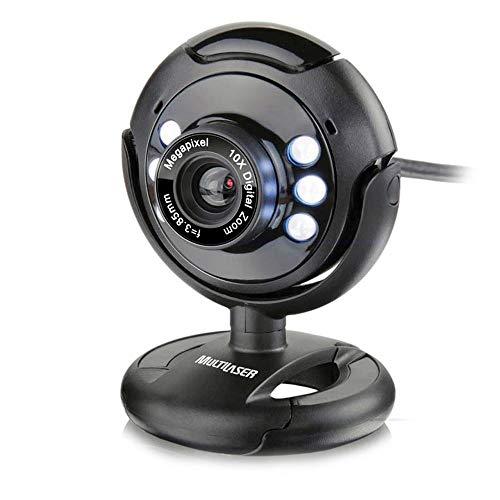 Webcam Multilaser Plug E Play 16Mp Nightvision Microfone Usb Preto - WC045