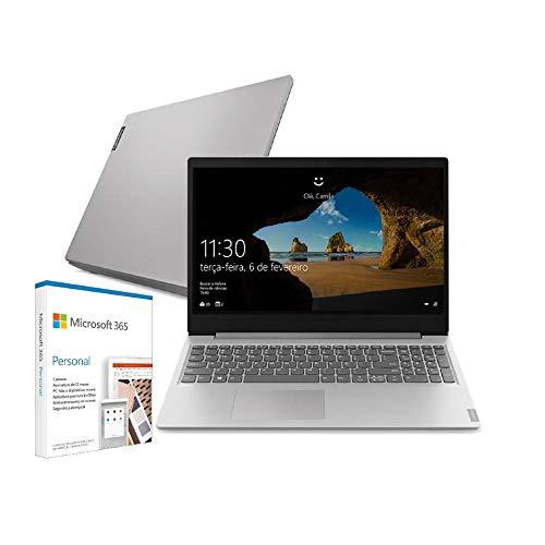 Notebook Lenovo Ultrafino ideapad S145, Intel Core i3-1005G1, 4GB RAM, 128GB SSD + Microsoft 365 Personal Windows 10 S 15.6