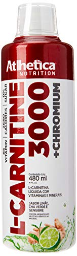 L-Carnitine 3000-480ml Limão, Chá Verde e Gengibre - Atlhetica Nutrition, Athletica Nutrition