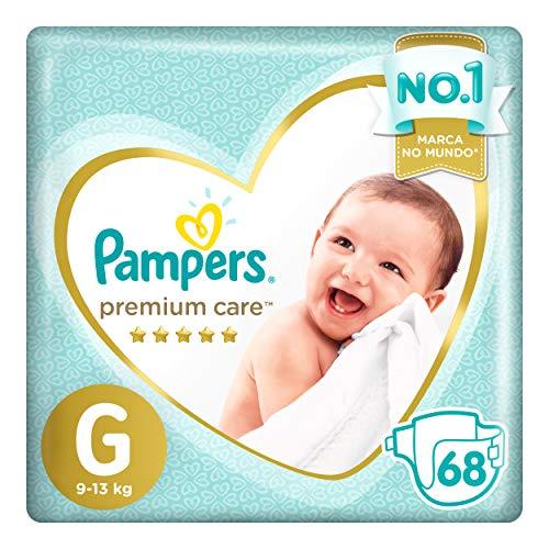 Fralda Pampers Premium Care G 68 unidades, Pampers, Grande, pacote de 68