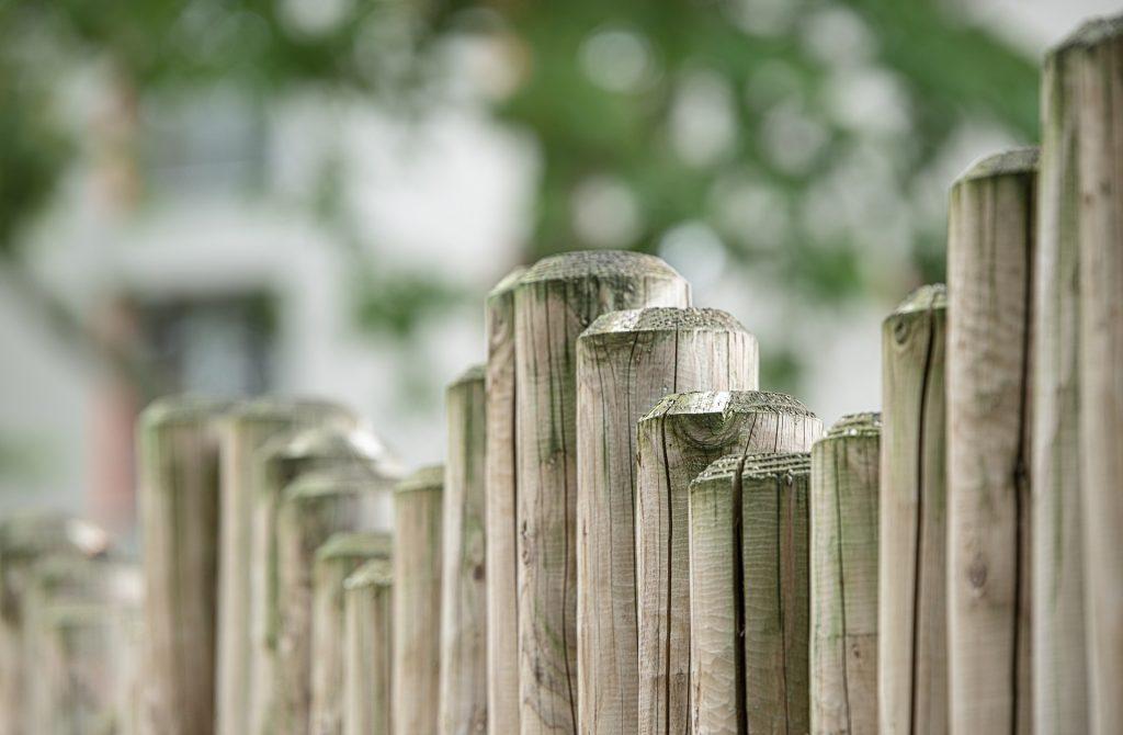 vallas de madera de jardin