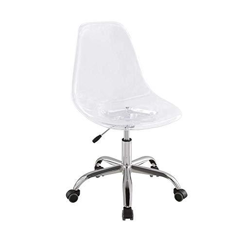 Cadeira de Escritório Secretária Giratória Eames Transparente