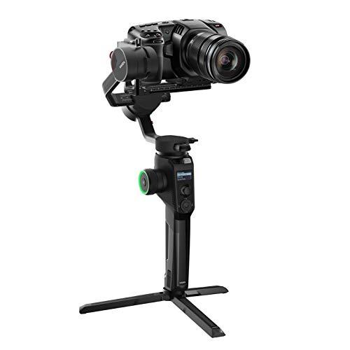 Moza Aircross 2 – Estabilizador eletrônico ultraleve de 3 eixos para câmeras sem espelho (carga máxima (3,2 kg/7 lbs) – Preto