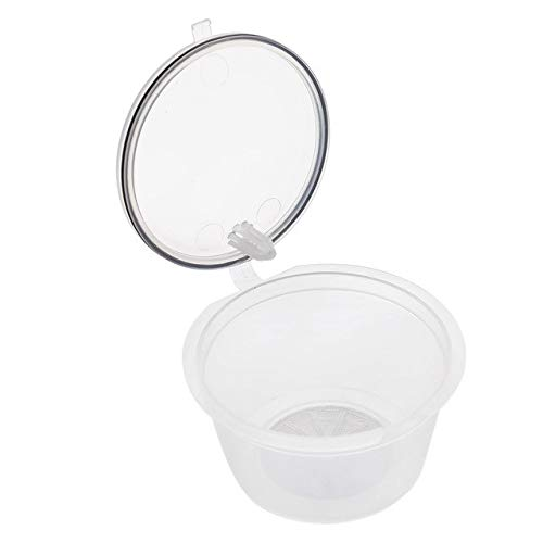 4 Cápsulas Reutilizável Dolce Gusto Recarregável Cristal Transparente