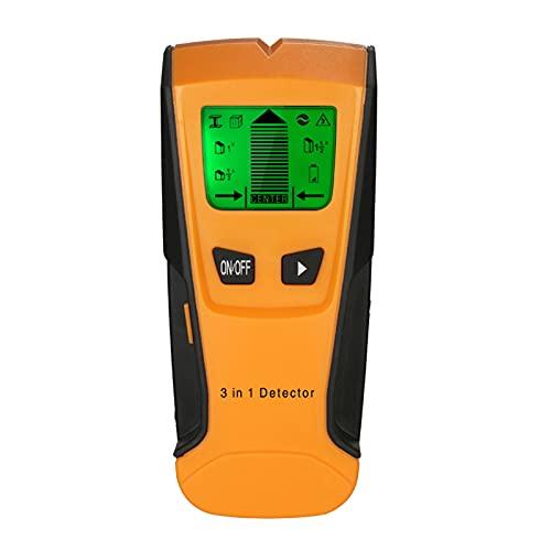 Romacci Detector de parafusos prisioneiros 3 em 1 LCD multifuncional detector de parede digital metal madeira cabo CA Scanner de fio vivo