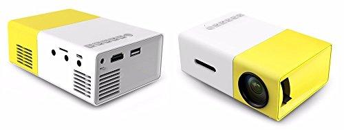 Mini Projetor Portátil 600 Lumes HD Yg-300 Hdmi USB