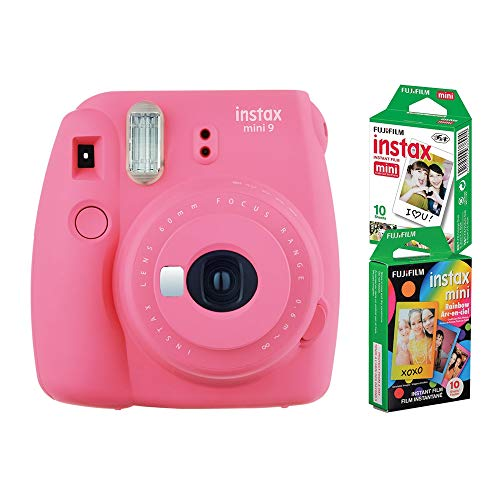 Câmera instantânea Fujifilm Instax Mini 9 Rosa Flamingo + 2 Packs c/ 10 fotos