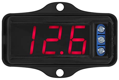 Voltímetro VTR 1000 Taramps Display Digital Som Automotivo, Pequeno, Preto