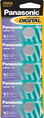 Tira de Bateria de Lithium Botão, Panasonic, CR2032-1BT