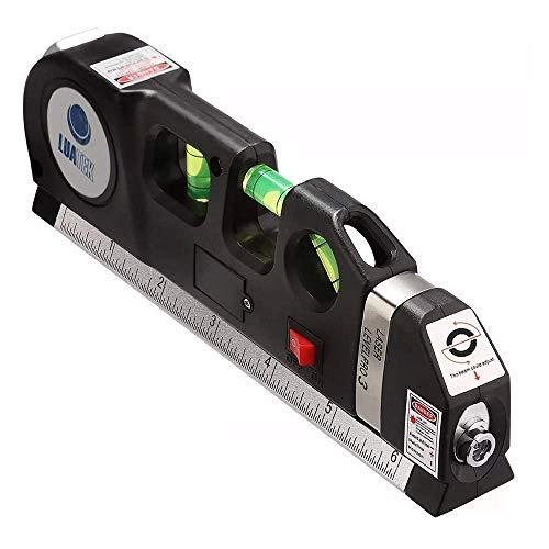 Trena Nivel a Laser Nivelador Medidor Profissional 2.5m Prateleira Parede Estante