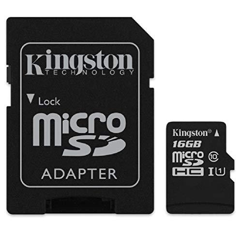 Cartão de Memória Canvas Select microSD 16GB, Kingston, Preto