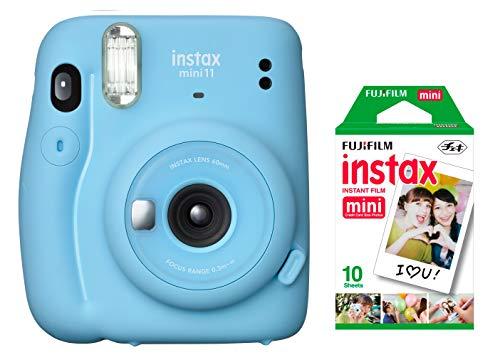 Câmera instantânea Fujifilm Instax Mini 11 Azul + Filme Instax com 10 poses