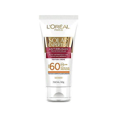 Protetor Solar Facial Anti-Rugas FPS 60 50g, L'Oréal Paris, Branco, 13