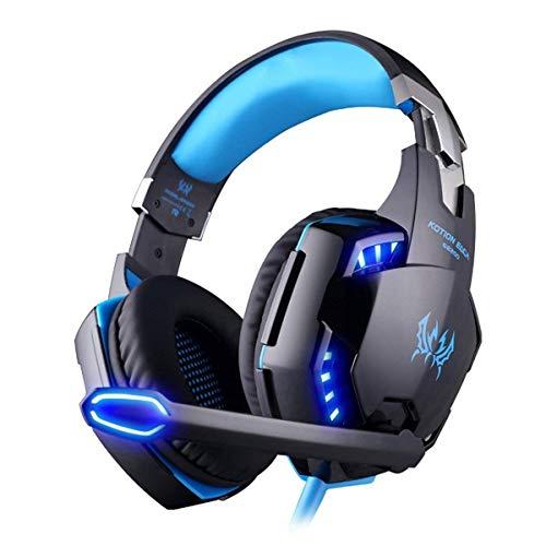 Kotion Each Fone de Ouvido Gamer G2000 LED com Microfone - Preto e Azul