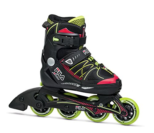 Patins Infantil Fila X-One Boy Infantil Fila Skates meninos PRETO/VERDE CLARO M