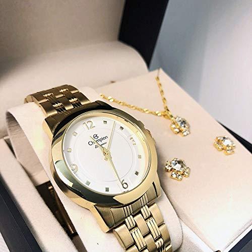 Relógio Champion Feminino Aço Dourado CN26797W