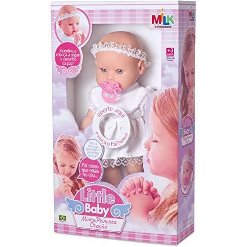 Boneca com Mecanismo Little Baby Primeira Oração Milk