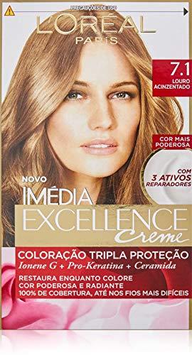 Coloração Imédia Excellence, L'Oréal Paris, Louro Acinzentado, Coloração Imédia