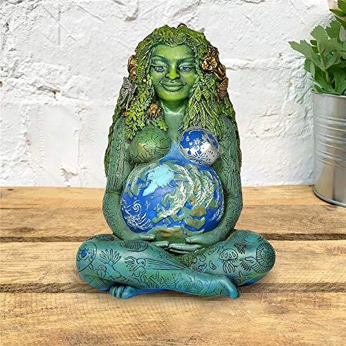 NXSI Estátua de Deusa da Mãe Terra, a Nova Estátua de Deusa da Terra Millennium Gaia, uma estátua artística da mãe Terra, uma estátua de decoração de casa e jardim, um presente para a mãe