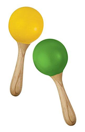 Green Tones Hohner Egg Maracas, polegadas (3765)