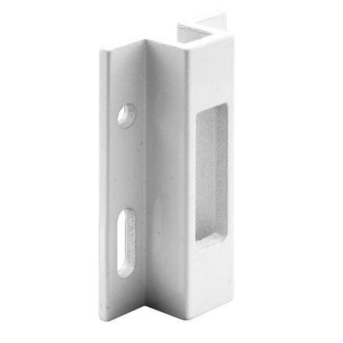 Prime-Line E 2124 Porta-porta deslizante, alumínio extrudado branco, para trava estilo gancho, Viking, pacote com 1