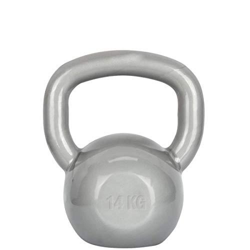 AX Esportes Kettlebel Revestido, Cinza, 10 kg