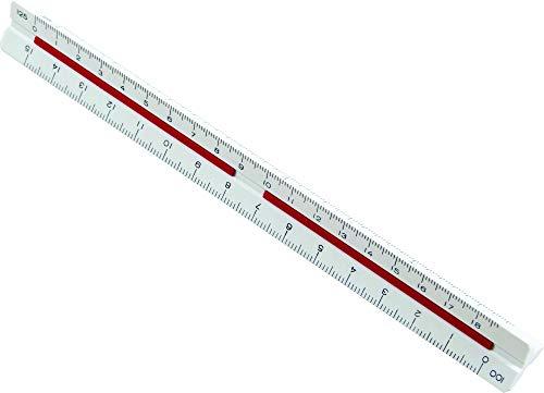 Escalímetro Triangular, Trident, ME-15, Branco, 15 cm